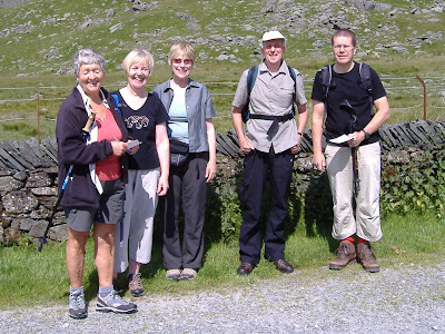 Pat Dyson, Sandra Bailey, Jan and Brian King, Fra Cooke