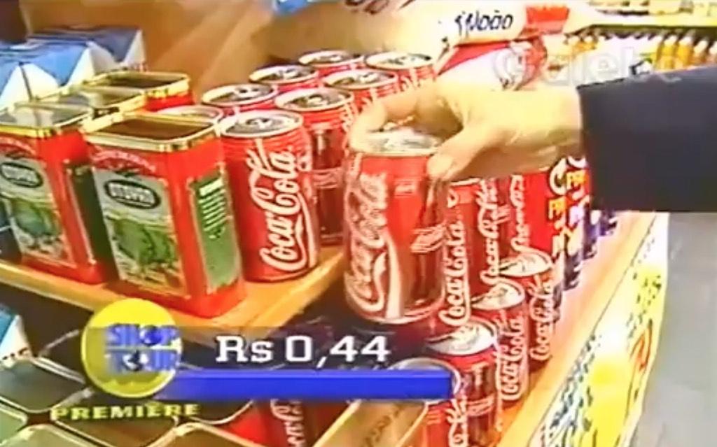 Trecho do programa Shop Tour apresentando as ofertas do Supermercado Ipcal em 1996