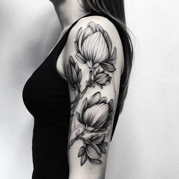 Essa textura floral braço peça
