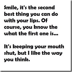 smile-mouth shut