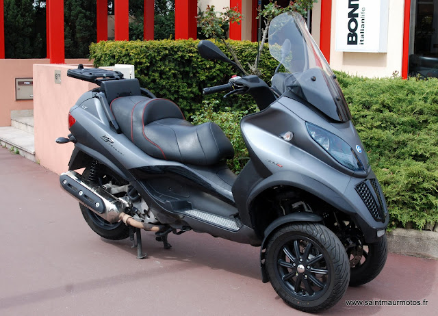 occasion piaggio mp3 500 lt touring sport gris mat 2011 15500kms vendu saint maur motos. Black Bedroom Furniture Sets. Home Design Ideas