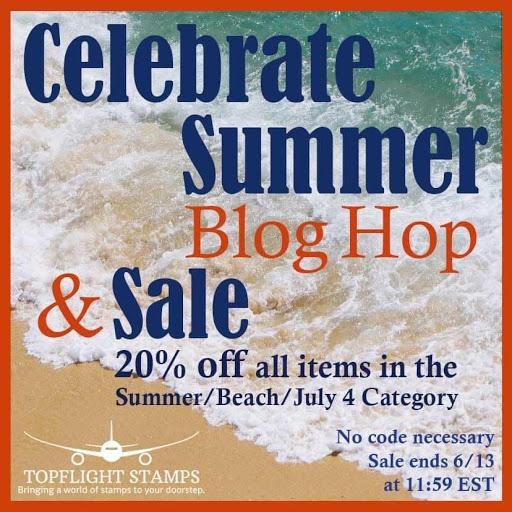 Summer Blog Hop Topflight Stamps