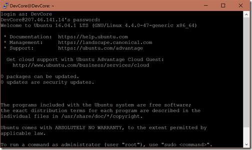 login-password-for-putty-azure-linux-vm