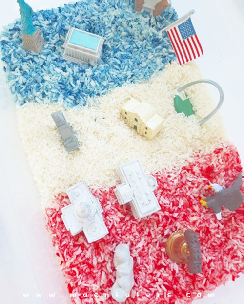 Patriotic Sensory Play With Safari LTD Toobs