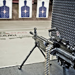 SAW M249 machine gun setup at lock & load Miami in Miami, Florida, United States