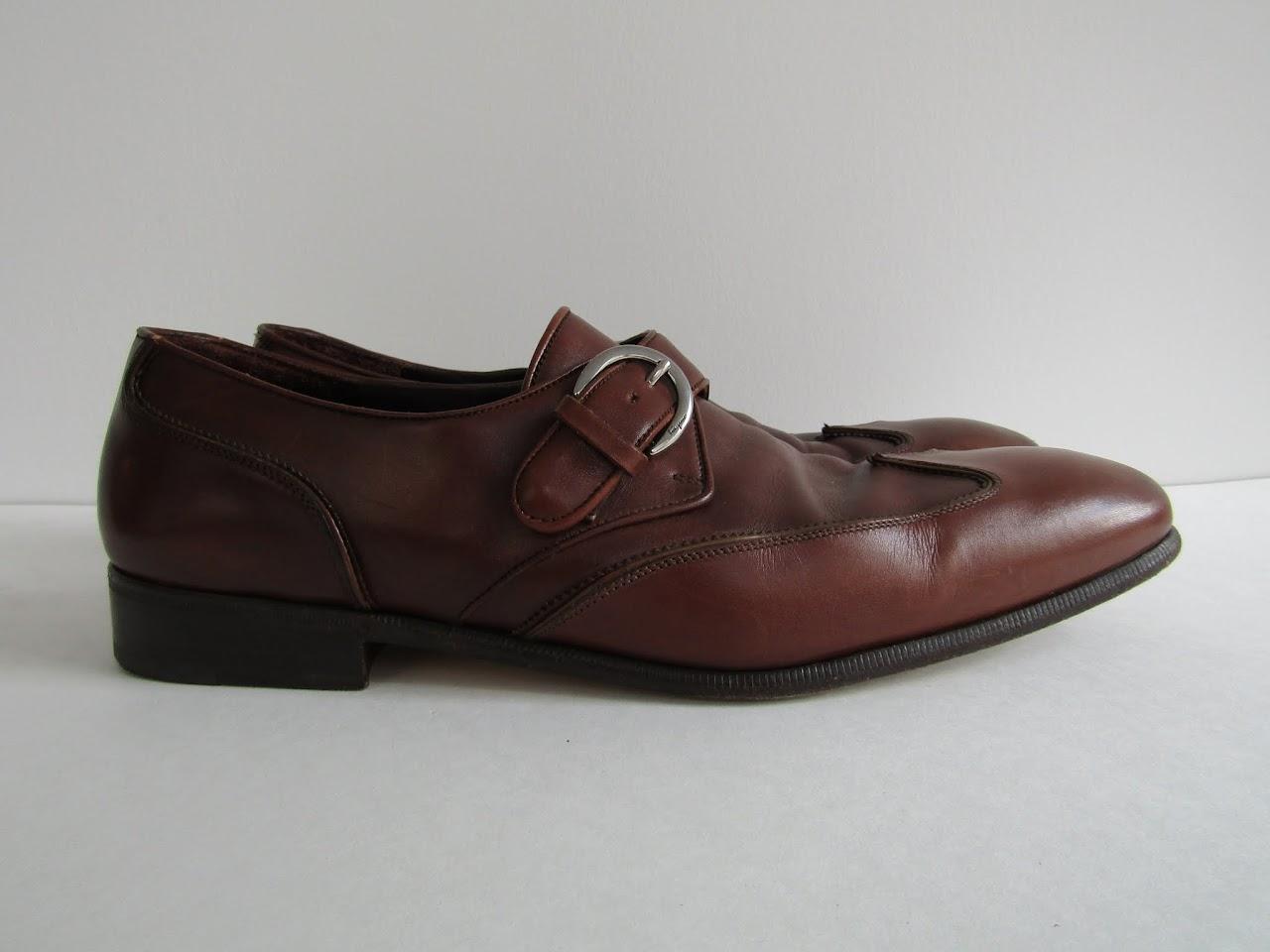 Salvatore Ferragamo Monk Strap Wingtip Shoes
