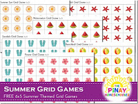 Summer Themed (6 x 5) Grid games