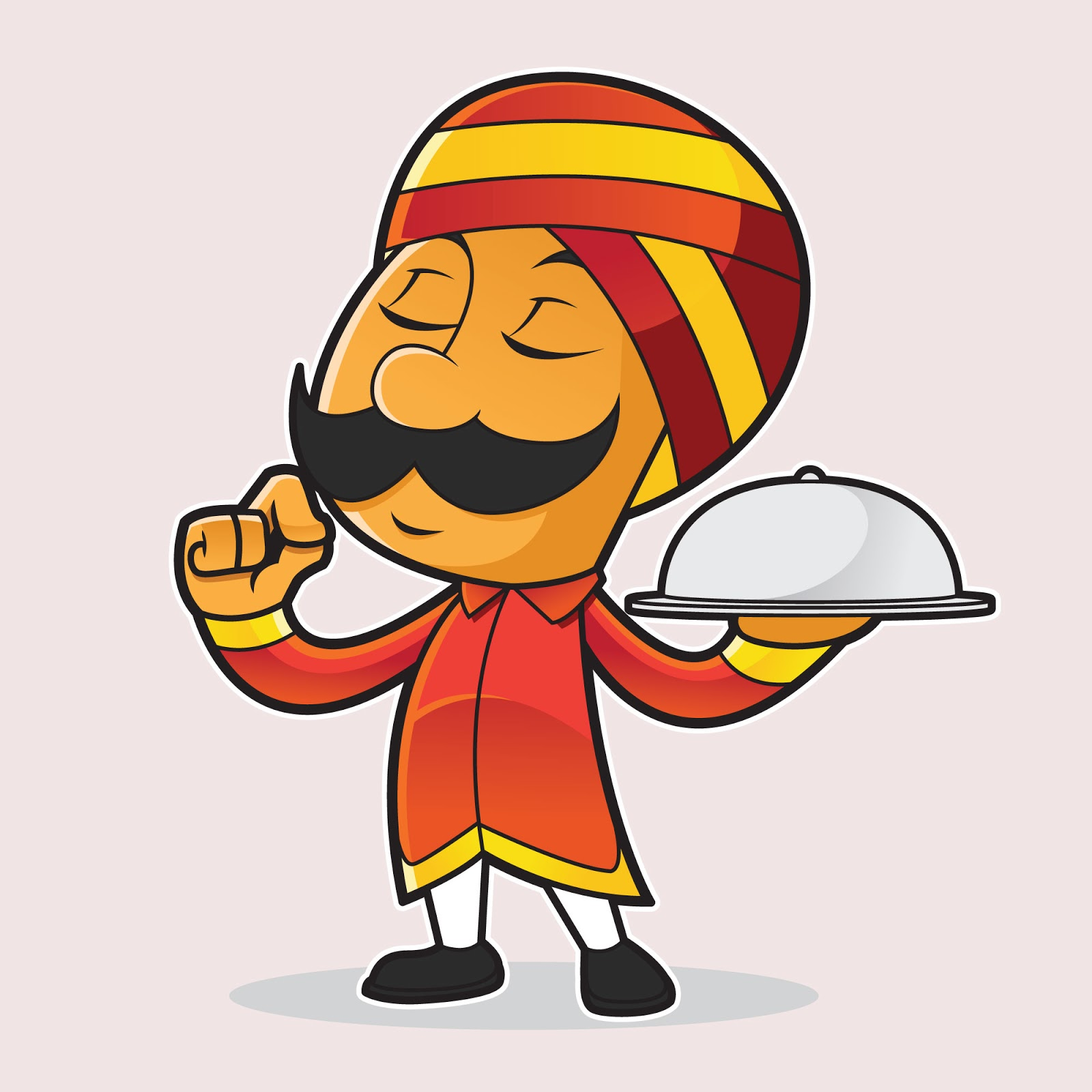 Indian Chef Mascot Free Download Vector CDR, AI, EPS and PNG Formats