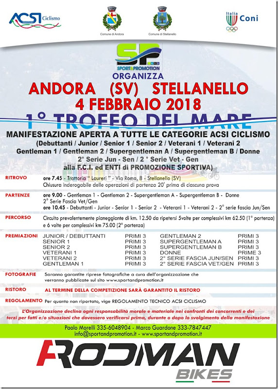 2018-02-04 ACSI - Strada 1° Trofeo del mare ad Andora (SV) - Liguria