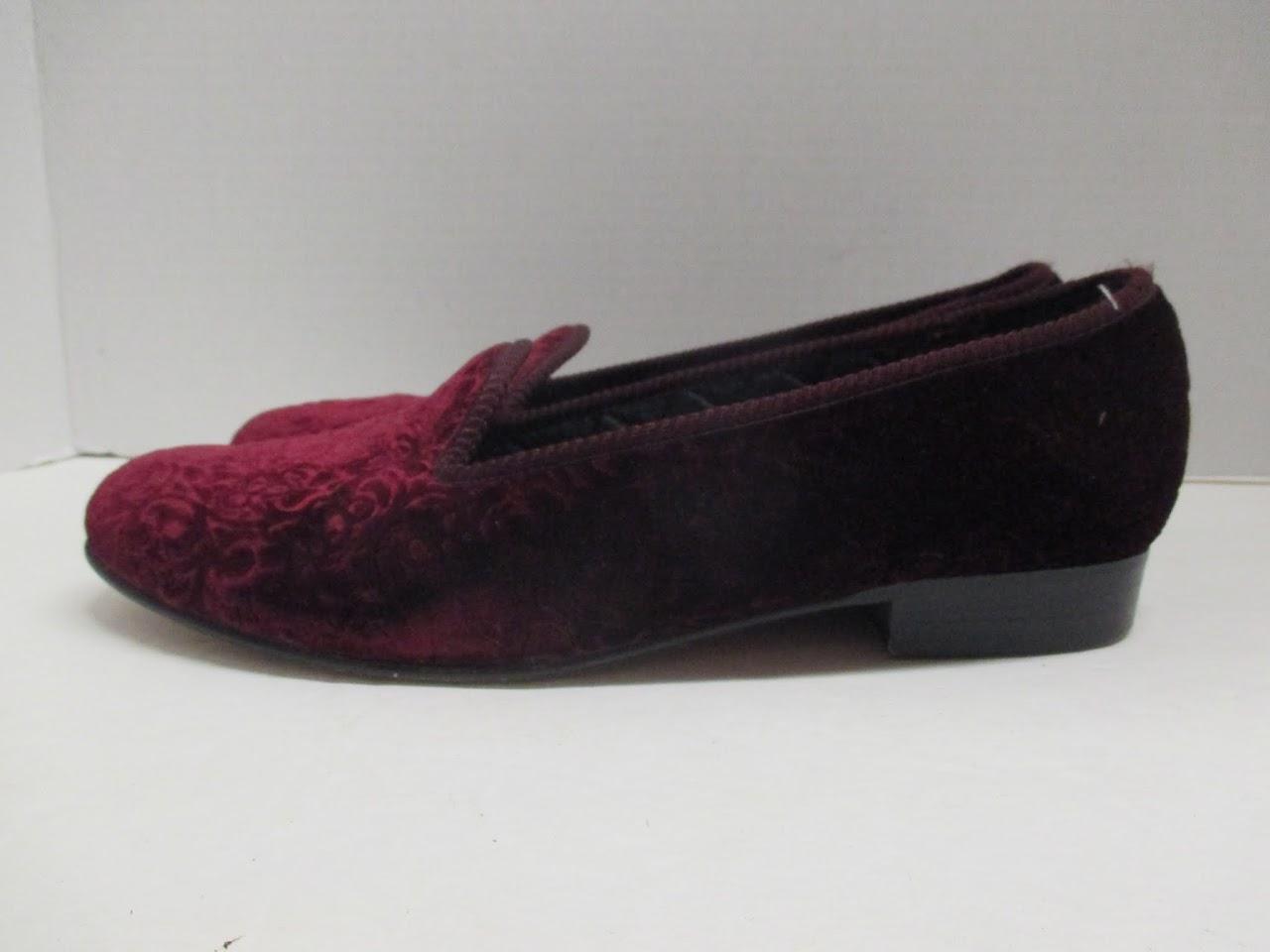 Vintage Berk Velvet Loafers