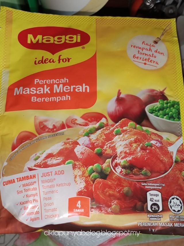 Nak jimat masa memasak, lagi lagi untuk ibu yang super busy? Guna saja perencah masak merah berempah MAGGI.
