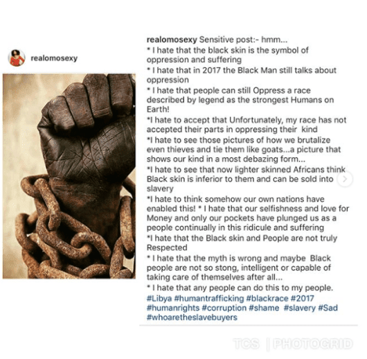 Amara Kanu, Dj Cuppy, D Banj & Other Celebs React To Slave Trade In Libya