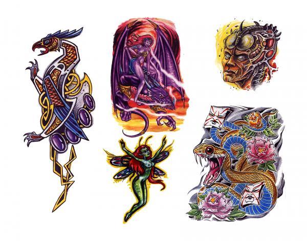 Magick Tattoo Design 8, Fantasy Tattoo Designs