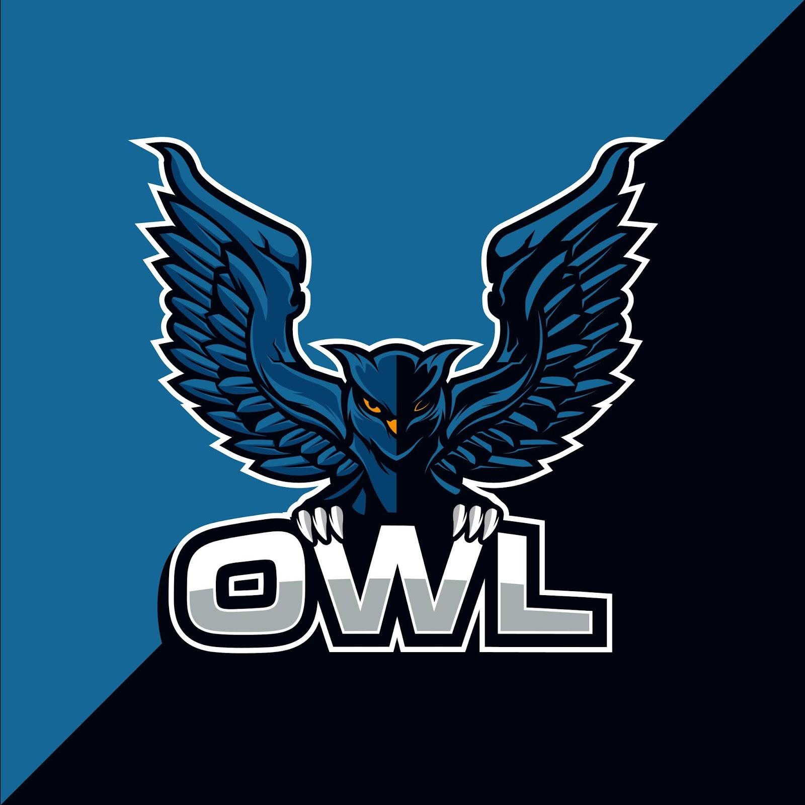Owl Bird Mascot Esport Logo Design Free Download Vector CDR, AI, EPS and PNG Formats