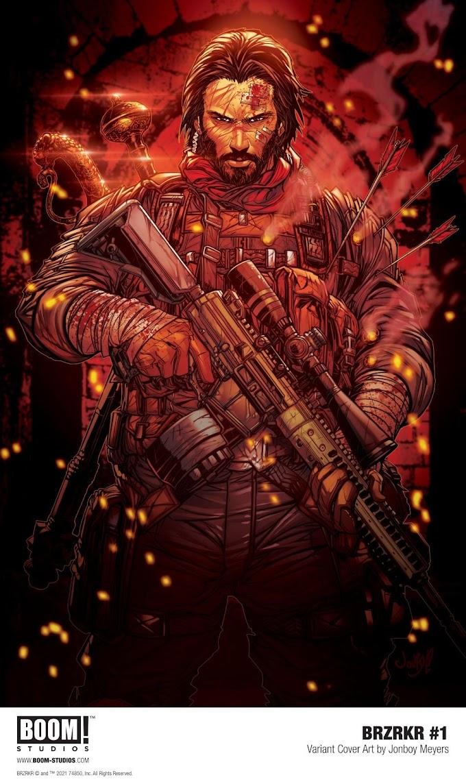Nuevas portadas para el cómic de Keanu Reeves, BRZRKR #1