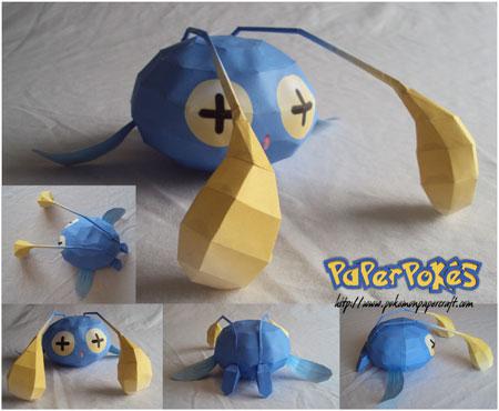 Pokemon Chinchou Papercraft