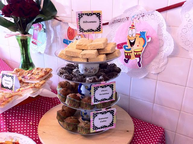Birthday Desserts Silvanas, Chocolate Krinkles and Banana Cupcake