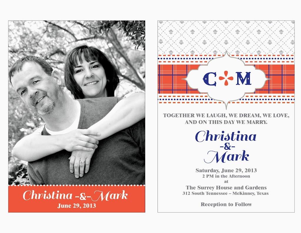 Christina Mark Wedding Invitation