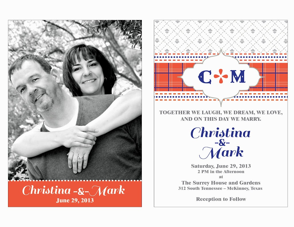 Christina Mark Wedding Invitation
