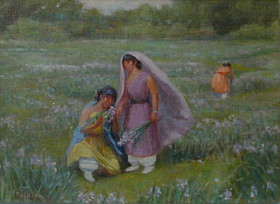 """Pueblo Girls Gather Iris"""
