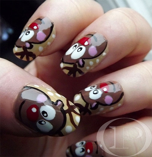 Reindeer Nail Art: Reindeer Ideas Nail Art Designs