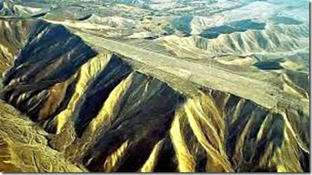 Flat tops located around Nazca lines