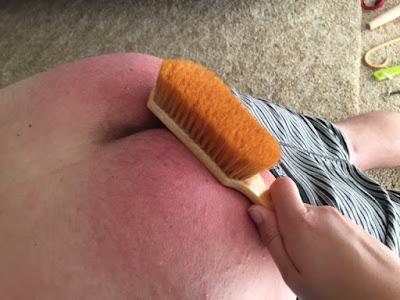 hairbrush OTK spanking