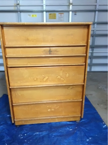 Crafty Blonde Girl Chest Of Drawers Makeover