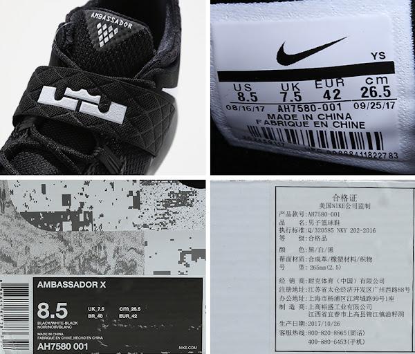 Nike Ambassador X Black  Marble  AH7580001  New Pics