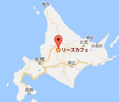 地図:リーズカフェ