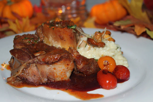 Petit veal ossobucco with chantrelle risotto and bistro demiglaze served at Harborside Bistro / Credit: Bellingham Whatcom County Tourism