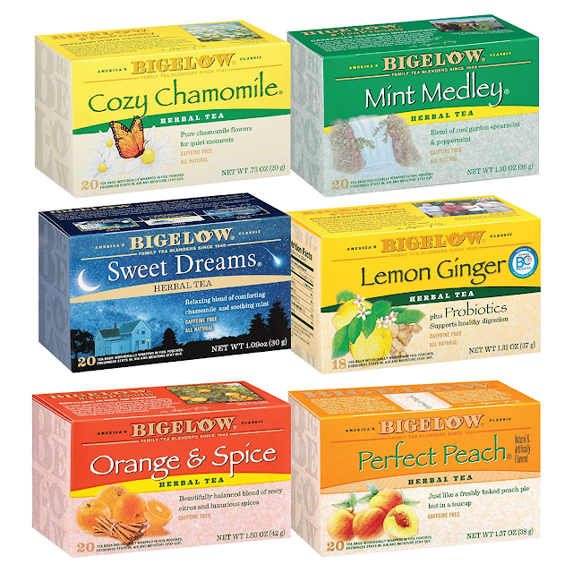 assortment of herbal teas