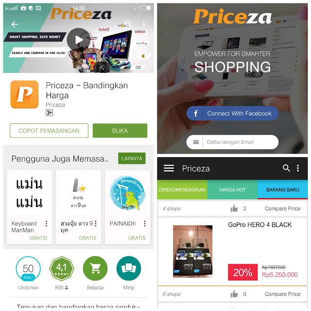 Aplikasi Priceza di Android