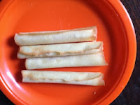 A plate of rolled wafers