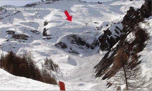 Avalanche Mercantour, secteur Cime du Chavalet, Hors-piste domaine skiable Auron - Sous le Télésiège du Dôme - Photo 1