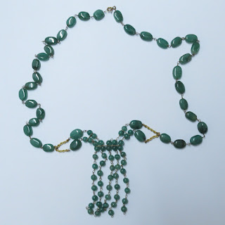 18K Gold and Jade Stone Necklace