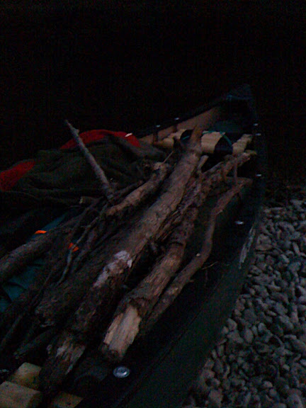 Some firewood gathered along the way.