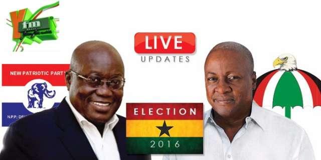 Ghana Eectin Vote counting underway