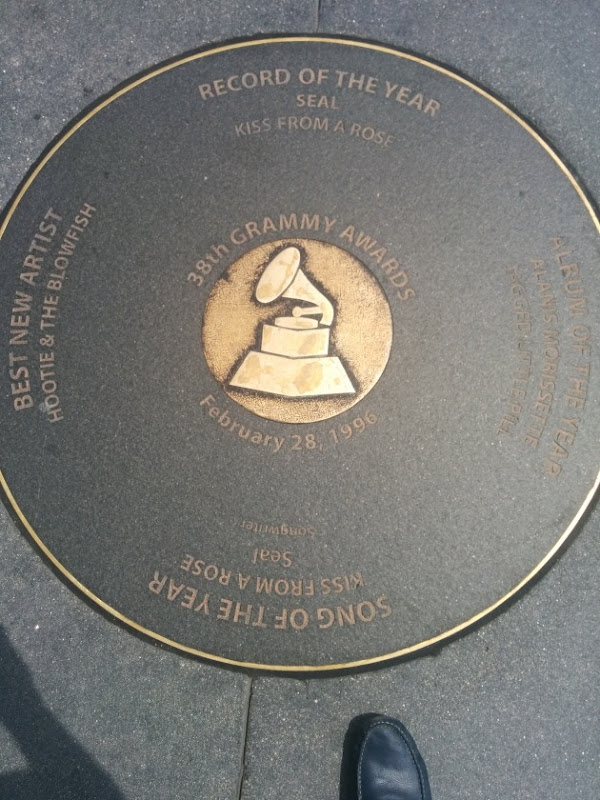 Grammy Record outside Grammy Museum, Los Angeles