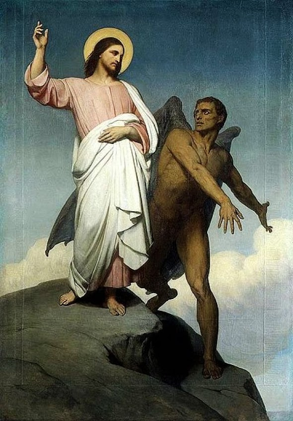 Ary Scheffer - The Temptation of Christ