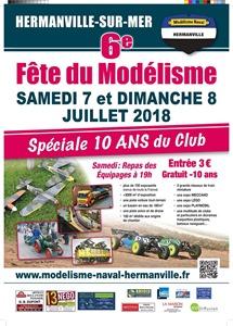 20180707 affiche fête du modélisme Hermanville 2
