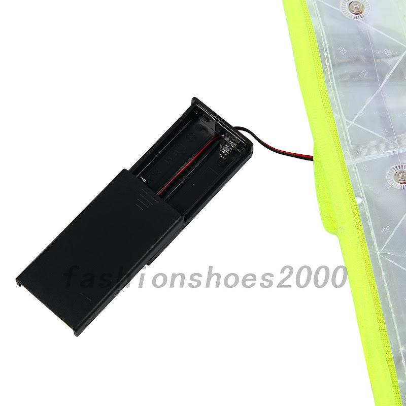 rad jogging einstellbar reflektoren warnweste sicherheitsweste mit led in abend ebay. Black Bedroom Furniture Sets. Home Design Ideas