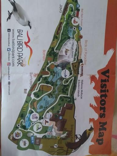 map Bali bird Park
