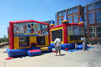 Bounce houses enticed future students to the campus.