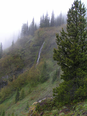 Waterfall from below Camp Windy