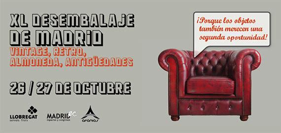 Vuelve el Desembalaje de Madrid, los días 26 y 27 de octubre en el recinto ferial Casa de Campo