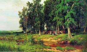На покосе в дубовой роще.1874 год.jpg