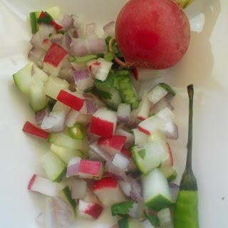 Onion, Cucumber and Radish Salsa
