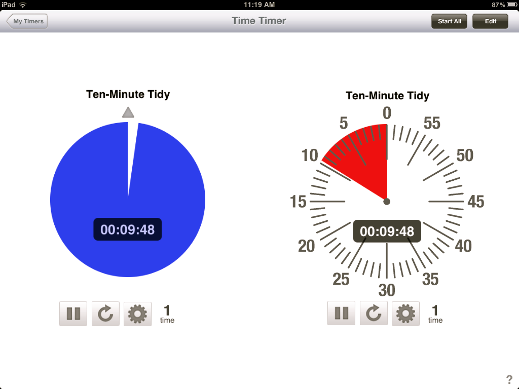 Time Timer iPad application