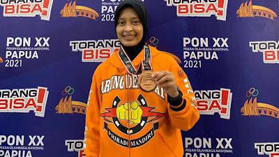 Nur Rahimah Raih Medali Perunggu Tarung Derajat PON XX Papua